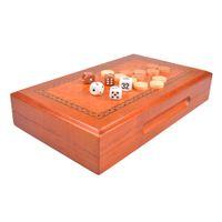 backgammon travel sets - High quality Camphor wood travel wooden backgammon set games