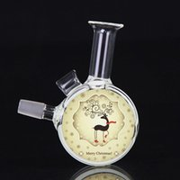 hood - Christmas Oil Rigs Glass Bongs mm Joint cm High With Nail Hood Bongs Water Pipes MS007