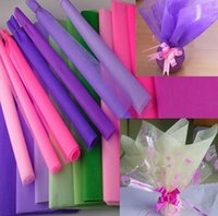 Wholesale 50pcs colorful tissue paper Floral Wrapping Paper flower packing material with reasonable price and good price
