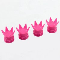 bicycle crown - 4X Crown Tire Wheel Stem Air Dust Cover Valve Cap for Car Truck Motocycle Bicycle