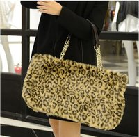 playboy bags - leopard fur shoulder tote bags for ladies personalized women fashion playboy handbag high quality leather luxury brand hand bag