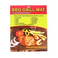 Wholesale Nonstick BBQ Grill Liner Mat Resuable Barbecue Sheet Pad Heat Resistance Grill Mat Sheet Microwave Oven Use Cooking Sheet Grill Mat mats