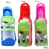Wholesale A7A24 ML Plastic Foldable Pet Dog Cat Travel Water Drinking Feeder Bottle Bowl IA884 P