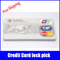 auto credit - 5 silver Credit Card Lock Pick Sets Locksmith Tools Unlock Picks Lockpick Lock Picking Padlock