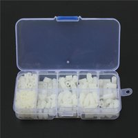 Wholesale Brand New M3 Nylon White M F Hex Spacers Screw Nut Assortment Kit Stand off Set Lowest Price