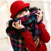 Wholesale 2015 Fashion Vintage Women Winter Hat Woolen Roll Brim Bowler Fedoras Hats