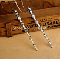beaded wand - Harry Potter Indian Necklace Pandent Hermione Sirius Bone Wand Magic Wand Voldemort Bell Fronze Necklace