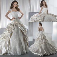 bridal dress china - Luxury Cheap Wedding Dresses Sexy Vintage Long Train With Lace Up Formal Ball Dress Backless Open Back Sequins China Party Bridal Gowns
