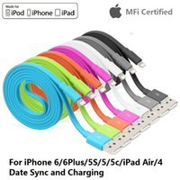 iphone 5 lightning cable - YELLOWKNIFE Apple MFi Certified Lightning Pin Data Sync and Charger USB Flat Cable for iphone S Plus Plus s ipad