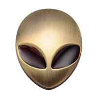 alien red eyes - Red Eyes Brass Car D ET Logo Metal Aliens Auto Truck Motorcycle Emblem Badge Sticker Decal