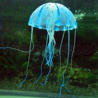 Wholesale New Tank Ornament Swim Artificial Glowing Effect Jellyfish Jar Decoration Decor For Aquarium Fish Home Decor
