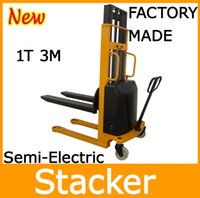 Wholesale Factory Supply Battery Operated Ton M Best Semi Electric Stacker Lifter