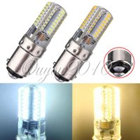 Wholesale BA15D W Pure White Warm White SMD LED Crystal Energy Saving Corn Light Lamp Bulb AC V
