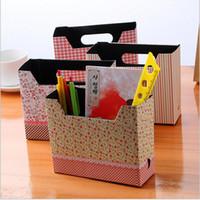 Cheap 1pcs Cute Makeup Cosmetic Stationery DIY Paper Board Storage Box Desk Decor Organizer