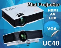 Wholesale Mini Projector UC40 Pico portable proyector Projector AV A V USB SD with VGA HDMI Home Theater Projectors projetor beamer DHL