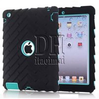 animal extremes - 3 In Defender shockproof Robot Case military Extreme Heavy Duty silicon cover for ipad mini DHL