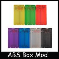 Vapor ABS Mod Box Acrílico claro mecânico Mod CLONE eCig mods Vape transparentes Fit Duplo 18650 vaporizador para 510 Atomizador