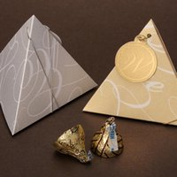 Wholesale 5pcs party favor chocolate box gold silver to choose wedding candy gift box