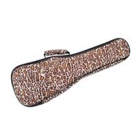 Wholesale Durable Fashion Hand Portable quot Soprano quot Concert Leopard Ukulele Bags Gig Bags Guitar Cases Soft Padded Ukulele Cover