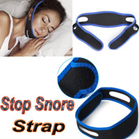 Wholesale 2016 Anti Snore Chin Strap Belt Stop Snorin Chain Straps Apparatus Anti Snoring Stopper Jaw Supporter Sleeping Care Product For Man Women