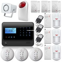 armed display screen - Touch Screen Keypad LCD Display GSM Android and IOS APP Wireless Home Burglar Security Alarm System Remote Control Arm Disarm