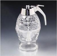 Wholesale Hot ML honey dispenser jar bottle pot honey dipper honey extractor honey spoon jars