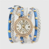 artificial quartz - NEW Unique personality women s fashion watch women bracelet watch multicolor rope Artificial preparation DHL