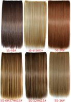Wholesale per color mixed colors valid synthetic Clip In Hair Extension one pc full head clip hair