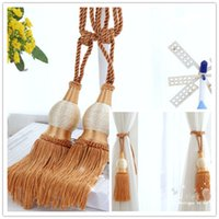 Wholesale 2 Pieces New Europe Style Home Decoration Window Curtain Decors Hanging Belt Ball Tassels Curtain Holder Curtain Tie Buckle