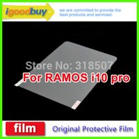 Cheap Wholesale-New 2015 5pcs original for RAMOS i10 pro 253*168mm clear screen protector 10.1inch protective film for tablets