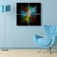 Wholesale Modern wall decor aluminum art painting wall pictures for living room home decor metal painting handicraft and art