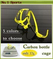 Wholesale Hot sale colors carbon bottle cage road bike mountain bike carbon fiber water bottle holder bike accessories
