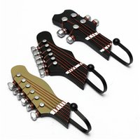 Wholesale 2015 New Stylish Hot Sale Set Guitar Heads Music Home Resin Clothes Hat Bag Hanger Hook Wall Mounted