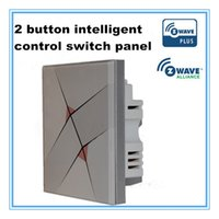 Wholesale Smart home system button intelligent control switch wireless remote control way light switch panel switch on off v z wave