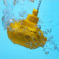 Wholesale 10 New Design Creative Home Yellow Silicone Submarine Infuser Model Tea strainer For Drink Tea or Coffee Tool