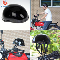 Wholesale ZJMOTO motorcycle Half Helmets Motorcycle Half Helmet Half Face Skull Cap LOW PROFILE Low Profile Motorcycle Helmets