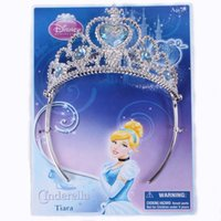 Cheap New Arrive Cinderella Imperial Crown Girl Hairbands Best Gift for Girls Party Supplies Costume Hair Accessories 1pcs lot