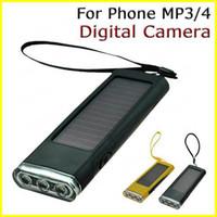 solar radio flashlight - 5pcs Solar Charger Flashlight Radio Backup Battery power Lighting Play Charger for phone MP3 MP4 opp bag pack