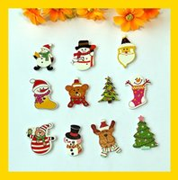 scrapbooking supplies - Mixed style Holes Christmas Buttons cartoons Wood Sewing decorative Buttons Scrapbooking Supplies