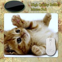 background cats - NEW Square Cats Kittens White Background Silicon Mouse Pads mmX180mmx2mm Mat Mice Pad Drop