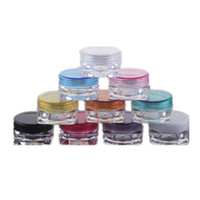 Wholesale 100 NEW G Cream Jars Screw Caps Clear Plastic Makeup Sub bottling Empty Cosmetic Container Small Sample Mask Canister