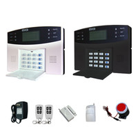 Cheap Wireless Home GSM Alarm System SMS Telephone Security Burglar Sim Card Alarm Kit System Multinational language-White