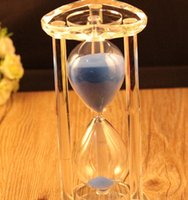Wholesale Creative Gifts Crystal Hourglass Timer Thirty Minutes Heart Shaped Blue