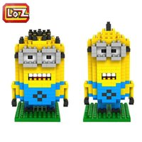 Wholesale Despicable Me Minions Types Diamond Building Blocks Set LOZ Minions Action Figures Toys Education Toys Gift for Children