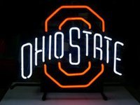 beer state - NM28 RETRO OHIO STATE LOGO REAL GLASS TUBE beer bar neon signs quot x24 quot for indoor outdoor display party