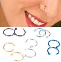 Wholesale Cute Surgical Steel Nose Open Hoop Ring Studs Earring Body Piercing Jewelry