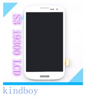 Wholesale superior LCD Assembly Display Touch Screen Digitizer Replacement For Samsung Galaxy S3 i9300 White Blue