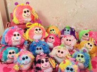bags beanie baby - TY big eye round ball plush toys mini size monstaz clip beanie ballz clips for bags or keys best gift for baby