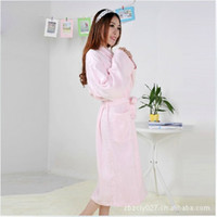 Wholesale Haley source of high grade antibacterial mites and lace bamboo fiber absorbent terry bathrobe yukata robe