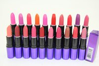 brand lip stick - Lipsticks Waterproof lipstick makeup matte Long Lasting Nude lip stick Brand Cosmetic
